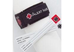 Kids Adjustable Medical ID Wristband Black