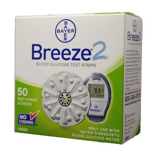 Bayer Breeze 2 Test Strips 50's