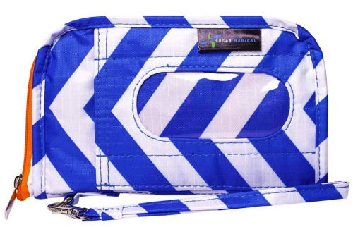 Sugar Bag Wristlet Chevron Blue