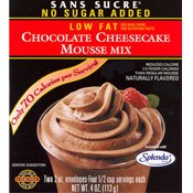 Sans Sucre Chocolate Cheesecake Mix