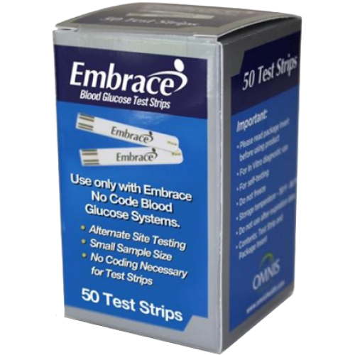 Embrace Test Strips 50's