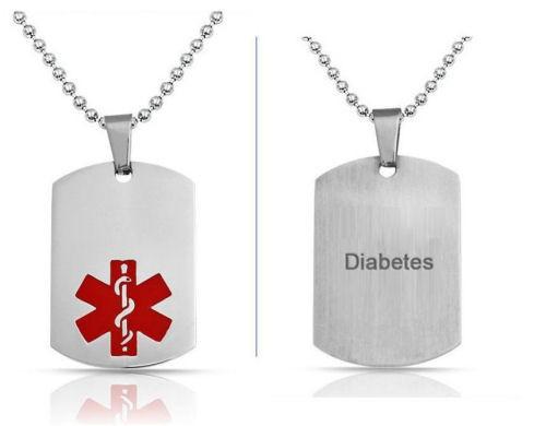 Diabetes Medical ID Necklace