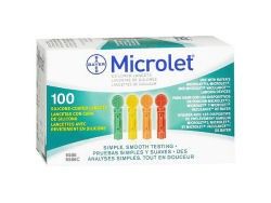 Microlet Colored Lancets 100's