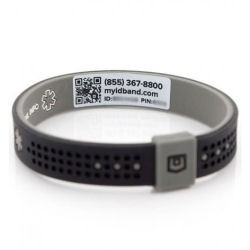 MyID Emergency Sport Bracelet Black/Gray Medium