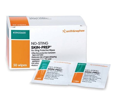 Skin Prep No Sting Protective Wipes 50's