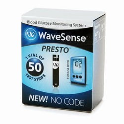 WaveSense Presto Test Strips 50's
