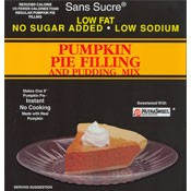 Sans Sucre Sugar Free Pumpkin Pie Filling & Pudding Mix