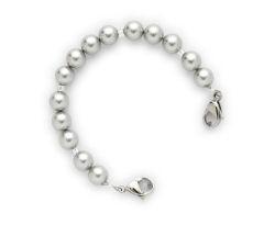 Silver Pearl Medical ID Bracelet