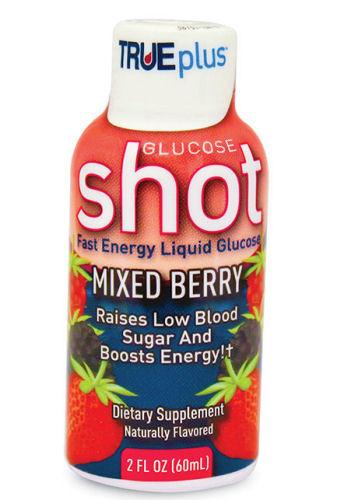 TruePlus Glucose Shot Liquid Mixed Berry Burst 2oz.
