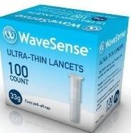 WaveSense 33 Gauge Lancets 100's