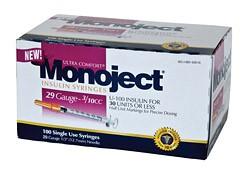 Monoject 29G Syringes 3/10cc 100's