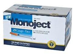 Monoject 29G Syringes 1/2cc 100's