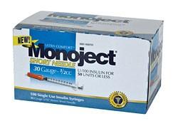 Monoject 30G Syringes 1/2cc 100's