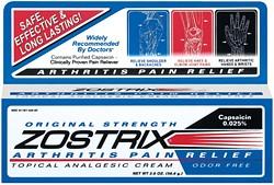 Zostrix Arthritis Pain Relief Cream