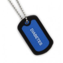 Kids Diabetic Medical ID Dog Tag Pink