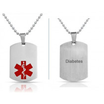 Diabetes Medical ID Necklace