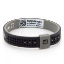 MyID Emergency Sport Bracelet Gray/Blue Medium