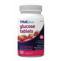 TRUEplus Glucose Tablets 50's Raspberry