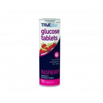 TRUEplus Glucose Tablets 10's Raspberry