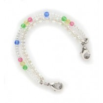Spring Tulips Beaded Medical ID Bracelet
