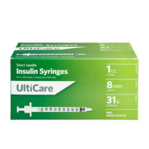 ULTICARE SYRINGES 1CC 8MM 31G 100CT