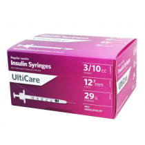 ULTICARE SYRINGES 3/10CC 12.7MM 29G 100CT