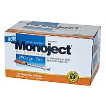 Monoject 28G Syringes 1/2cc 100's