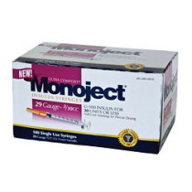 Monoject 29G Syringes 3/10cc 100's