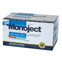 Monoject 29G Syringes 1/2cc 100's