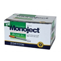 Monoject 29G Syringes 1cc 100's
