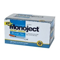 Monoject 30G Syringes 1/2cc 100's