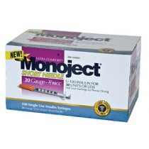 Monoject 30G Syringes 3/10cc 100's