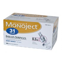 Monoject 31G Syringes 3/10cc 100's