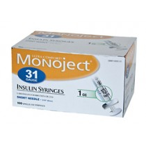 Monoject 31G Syringes 1cc 100's