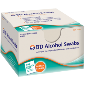 BD Alcohol Swabs 100's
