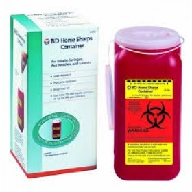 BD Home Sharps Container 1.4Qt.