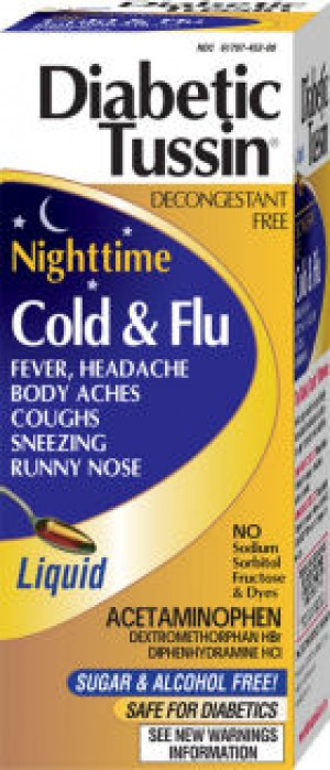 Diabetic Tussin Nighttime Cold & Flu 4oz.