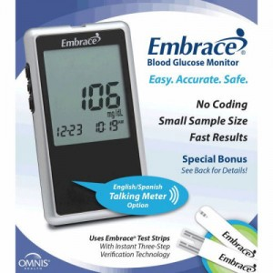 Embrace Talking Blood Glucose Meter