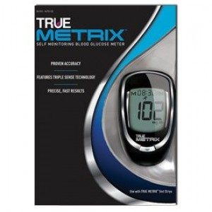 True Metrix Blood Glucose Monitor +100 Strips Combo